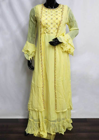 Yellow Color Readymade Salwar- FQ97959 ARRS Silks