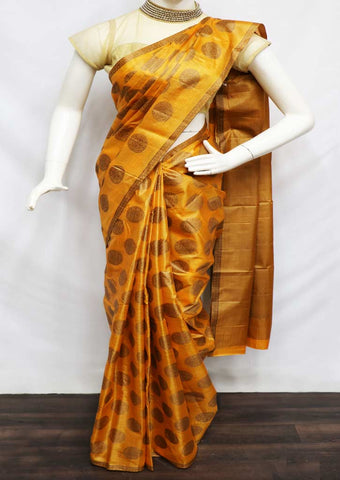 Yellow Color Tussar Silk Saree - FV9978 ARRS Silks