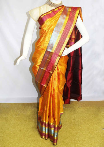 Yellow Kanchipuram Silk Saree-DG4567 ARRS Silks