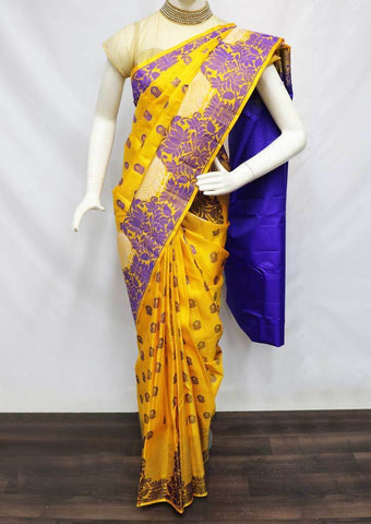 Yellow Kanchipuram Silk Saree -FV3345 ARRS Silks