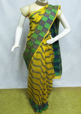 Yellow Manipuri Cotton Sarees- FP2138 ARRS Silks