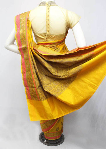 Yellow Manipuri Cotton Sarees- FR105157 ARRS Silks