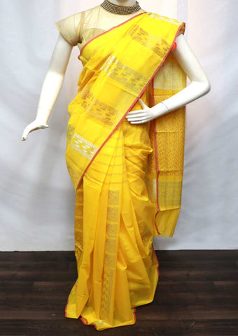 Yellow Pure Silk Cotton Saree - GB90048 ARRS Silks