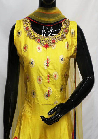 Yellow Readymade Salwar-FU64012 ARRS Silks