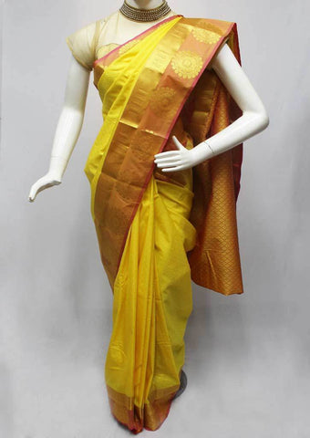 Yellow Semi Silk Saree- FQ88262 ARRS Silks