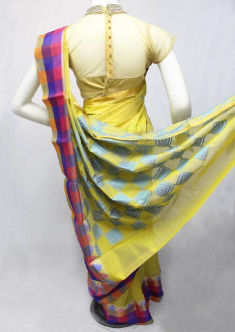 Yellow Silk Cotton Saree - FR27823 ARRS Silks