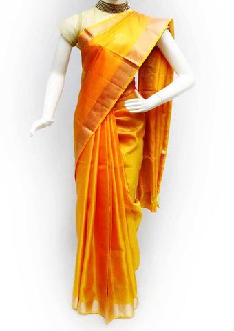 Yellow Soft Silk Saree - FL84614 ARRS Silks