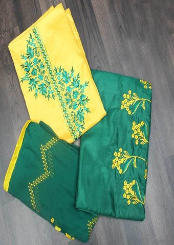 Yellow Unstitched Chudi - FR87515 ARRS Silks