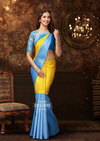 Yellow Wedding Silk Saree - 9KA3711 ARRS Silks Salem