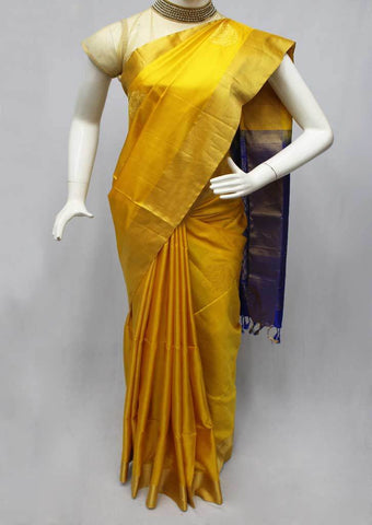 Yellow with Blue Soft Silk Saree -FI7015 ARRS Silks