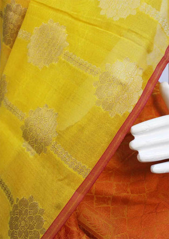 Yellow with Orange  Fancy saree -FO12819 ARRS Silks