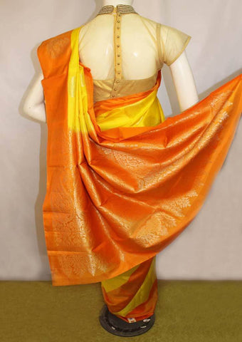 Yellow With Orange Soft Silk Saree -FL87154 ARRS Silks