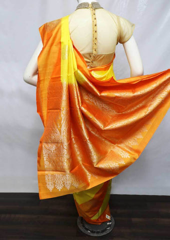 Yellow With Orange Soft Silk Saree - FL87154 ARRS Silks