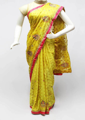 Yellow with Pink Color Synthetic Saree-FR96718 ARRS Silks