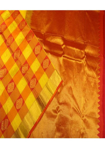 Yellow With Red Colour Kanchipuram Silk Saree-FD6229 ARRS Silks