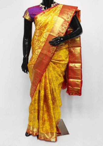 Yellow with Red  Wedding Silk Saree - EZ17308 ARRS Silks