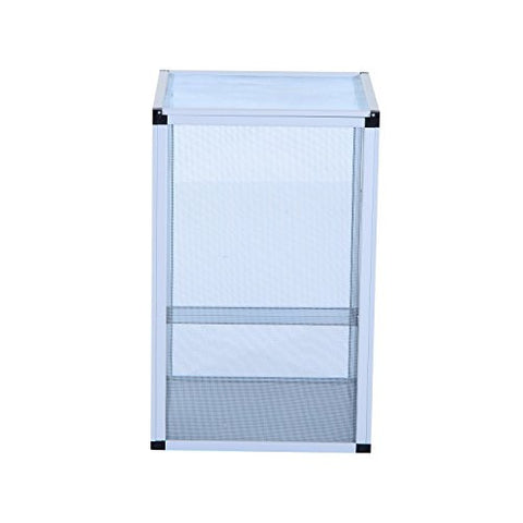 "Pawhut 16.5""L x 16.5""W x 26""H Fresh Air Screen Habitat for Reptiles - Silver"