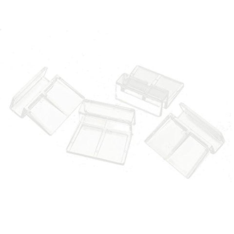 Aquarium Glass Cover Holder - TOOGOO(R) 4 Pcs Clear Plastic Fish Tank Glass Cover Clip Support Holder 12mm