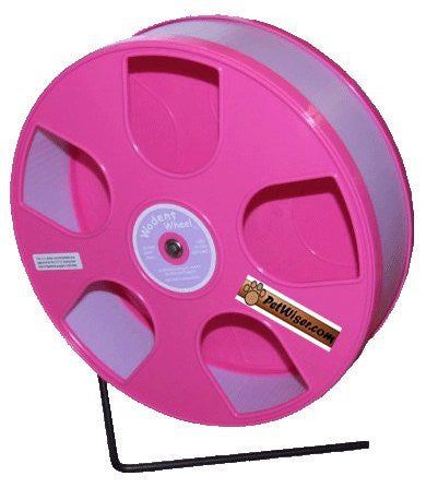 "Rodent - Semi-Enclosed Exercise Wodent Wheel 'Sr.' 11"" Lavender with Pink"