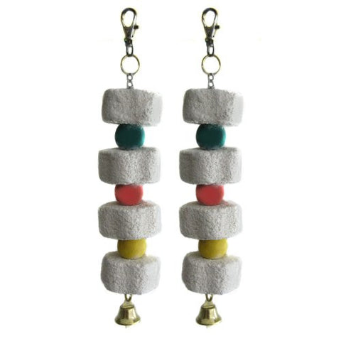 Alfie Pet by Petoga Couture - Set of 2 Small Animal Mineral Stone Flower Chew Charm for Guinea Pig, Rabbit, Hamster, Bandit, Ferret, Mouse