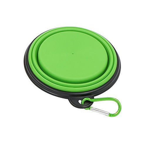 Travel Dog Bowl Collapsible,Linka Pet Travel Bowl,Silicone Food & Water Travel Bowl with Clip, Portable Travel Bowl,Free Carabiner,Dog Bowl,Cat Bowl