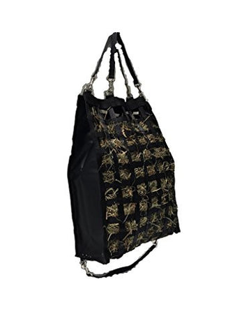 "The Original NibbleNet Double-Nibble 6"" Deep w/ 1.25"" Slow Feed Hay Bag by Thin Air Canvas, Inc."