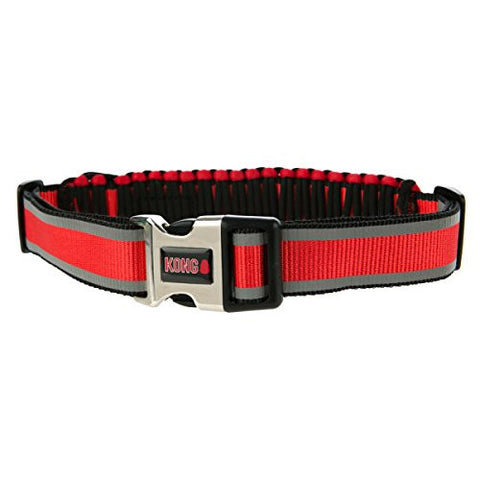 KONG Paracord Reflective Adjustable Collar Red