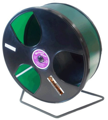 "Rodent - Semi-Enclosed Exercise Wodent Wheel 'Wobust' 12"" Green"