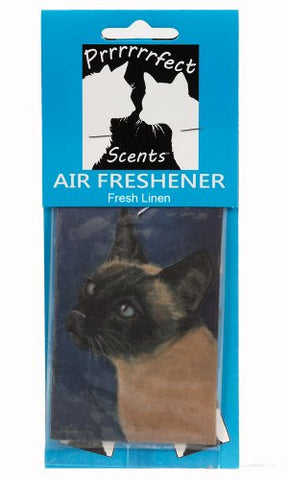Prrrrrrfect Scents Siamese Cat Air Freshener, Fresh Linen