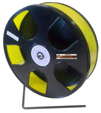 "Rodent - Semi-Enclosed Exercise Wodent Wheel 'Sr.' 11"" Yellow"