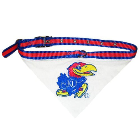 Doggination Small Cat Pet Animals Kansas Jayhawks Dog Collar Bandana Small