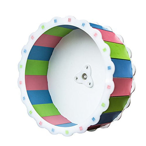 Happy Pet Play Toys Colorful Sunflower Exercise Running Wheel for Hamsters Big One