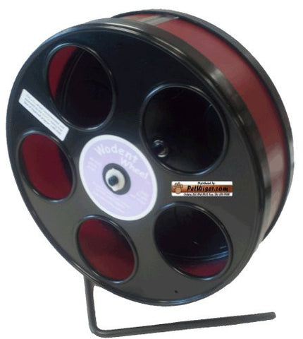 "Rodent - Semi-Enclosed Exercise Wodent Wheel 'Jr.' 8"" Burgundy"