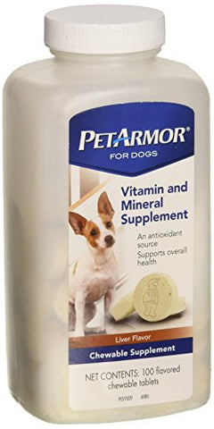 PetArmor 100 Count Vitamin & Mineral Supplement Dog Tablets