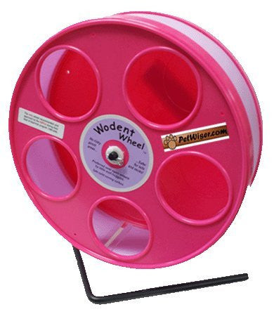 "Rodent - Semi-Enclosed Exercise Wodent Wheel 'Jr.' 8"" Lavender with Pink"