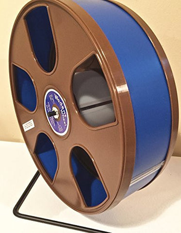 "WODENT WHEEL 11"" EXERCISE WHEEL DARK BLUE TRACK W. BROWN PANELS & ADDED NAILTRIMMER TRACK"