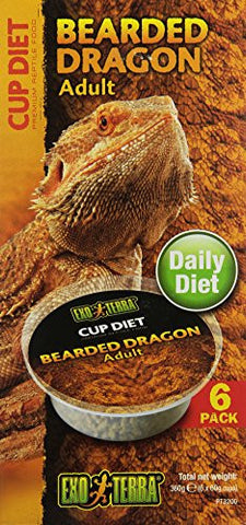 Exo Terra 6-Pack Adult Bearded Dragon Food, 2.1-Ounce