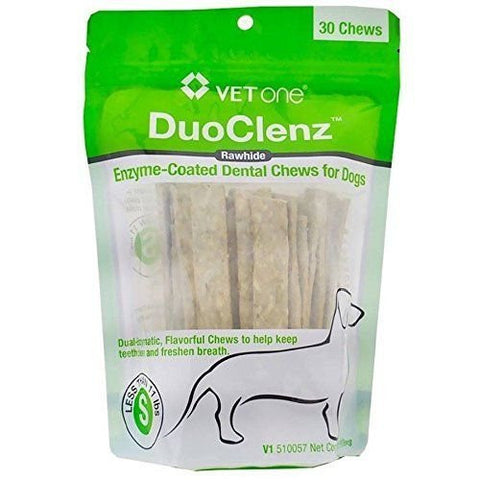 VetOne DuoClenz EnzymeCoated Dental Chews Small 30 count