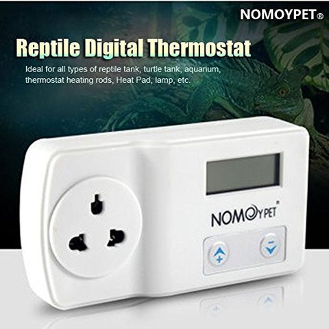 NOMOY 220-240V Reptile Digital Thermostat Heat Pad Mat Lamp Terrarium Temperature Controller