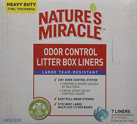 "7 Count, Litter Box Liners, 36"" x 19"""