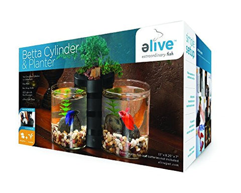 0.5 Gallon, Plant Area with Drain Hole Betta Cylinder
