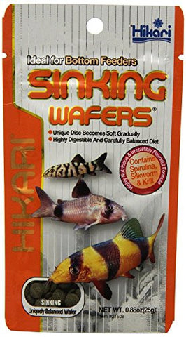 0.88 OZ, Sinking Wafers for Corydoras Catfish, Loaches & Other Bottom Feeders
