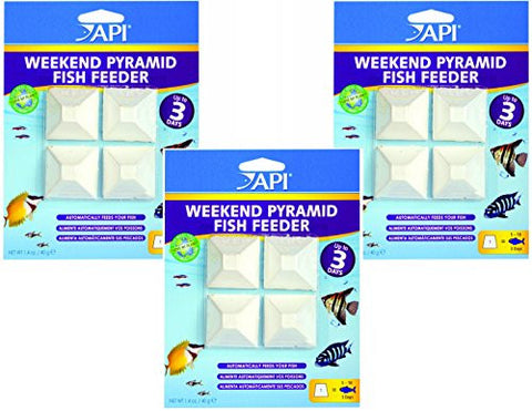 (3 Pack) API 3-Day Pyramid Automatic Fish Feeder