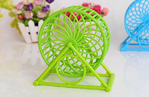 Mrlipet Animals Pet Small Toys Hamster Running Wheel Roller Ball with Bracket Supplies Houses and Villas Nest Cage
