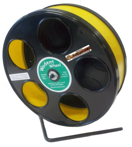 "Rodent - Semi-Enclosed Exercise Wodent Wheel 'Jr.' 8"" Yellow"