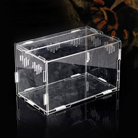 Acrylic Transparent Pet Reptiles Box Breeding Tanks Container For Lizard Chameleon Spider Snake Other Reptiles 251515cm