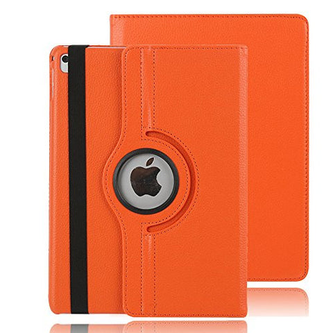 9.7 inch iPad Pro 9.7 Stand,TechCode 360 Degrees Rotating Magnetic Stand Smart Case Cover for Apple iPad Pro 9.7 inch 2016 Tablet(Orange)