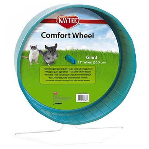 "Colors Vary, 12"", Giant Comfort Exercise Wheel for Chinchillas, Pet Rats"
