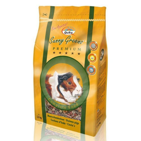 Quiko Guinea Pig Food Sunseed Sunny Greens 2.5Kg
