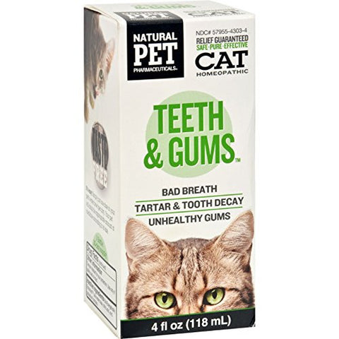 King Bio Homeopathic Natural Pet Cat - Teeth And Gums - 4 Oz